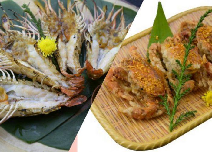 ปูและกุ้งในเมนูอาหารไทยที่ครองใจคนทั่วโลก ที่ร้านครูซ ซอยธนิยะ